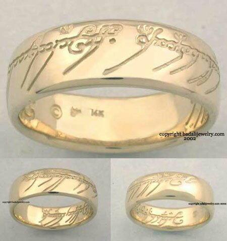 14k. Gold The One Ring