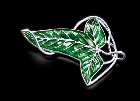 Elven Brooch Silver Plated - The Lord of the Rings