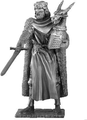 Figure King Arthur - Knights of the Round Table - Les Etains Du Graal