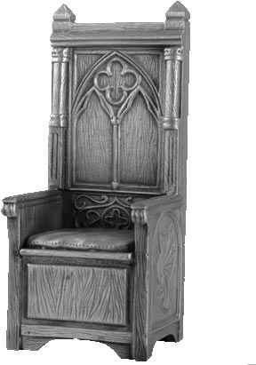 Figure King Arthur Throne - Knights of the Round Table - Les Etains Du Graal