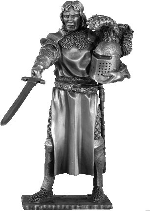 Figure tristan knights of the round table les etains for 12 knight of the round table