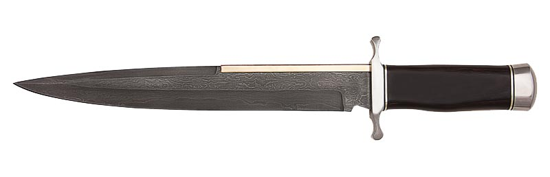 Gil Hibben Old West Toothpick Damascus
