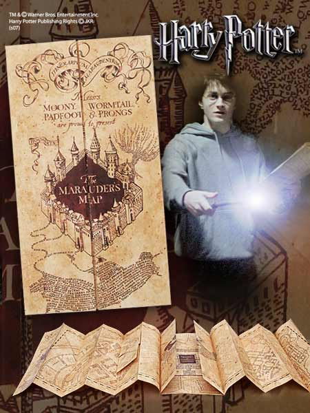 Harry Potter Replica Marauder Map