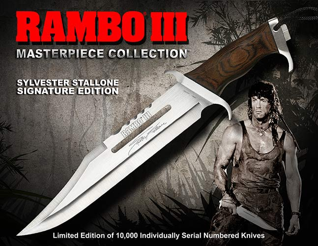 Knife Rambo III Sylvester Stallone Signature Edition Hollywood Collectibles Group