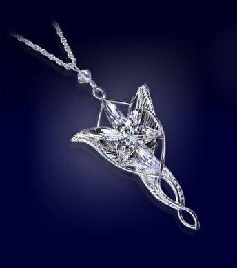 LOTR Arwen's Evenstar Pendant Silver Plated