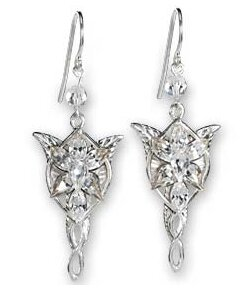 Lord of the Rings Earrings Arwens Evenstar (Sterling Silver)