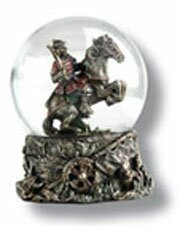 Snow globe with samurai
