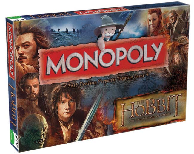 The Hobbit Desolation of Smaug Board Game Monopoly English Version