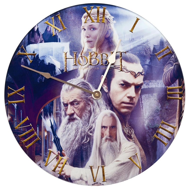 The Hobbit Glass Wall Clock Rivendell