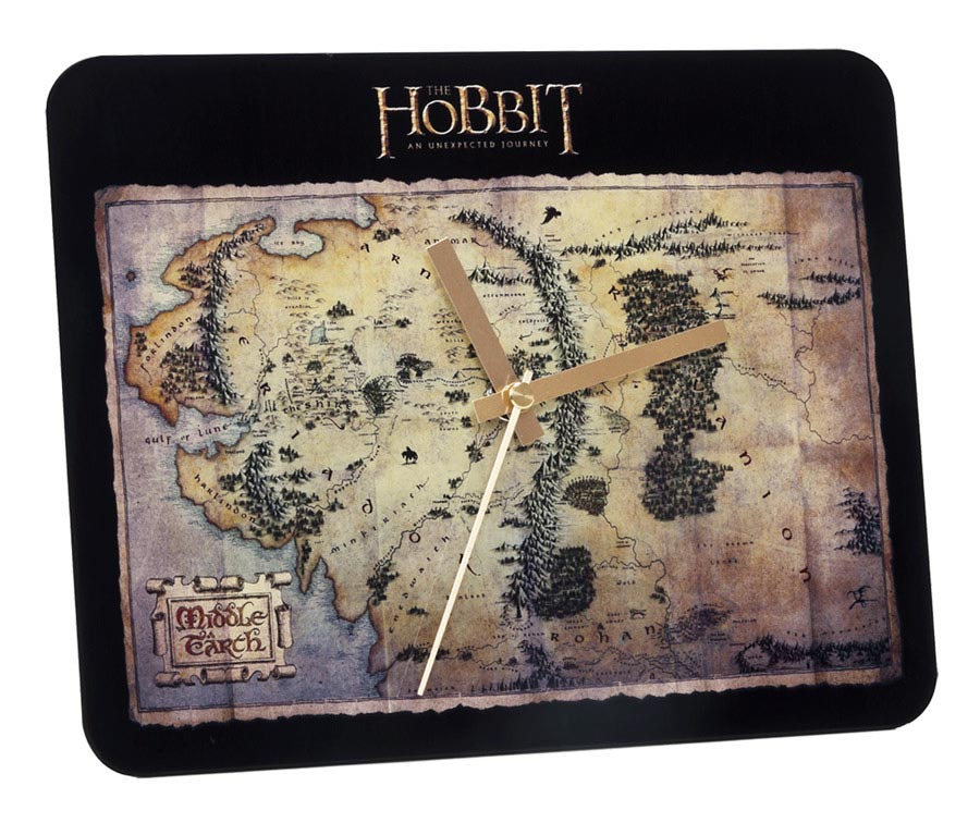 The Hobbit Glass Wall Clock The Treasure Map