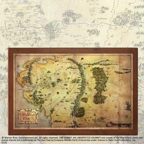 The Hobbit The Map of Middle-Earth Noble Collection