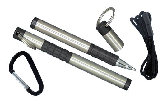 Trekker Space Pen with Carabiner and Lanyard